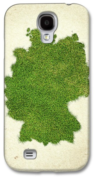 Deutschland Galaxy S4 Cases - Germany Grass Map Galaxy S4 Case by Aged Pixel