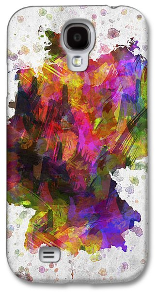 Deutschland Galaxy S4 Cases - Germany in Color Galaxy S4 Case by Aged Pixel