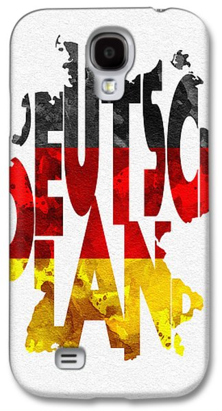 Deutschland Galaxy S4 Cases - Germany Typographic Map Flag Galaxy S4 Case by Ayse Deniz