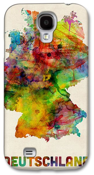 Deutschland Galaxy S4 Cases - Germany Watercolor Map Deutschland Galaxy S4 Case by Michael Tompsett