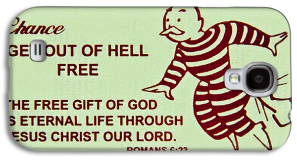 Atonement Galaxy S4 Cases - Get Out Of Hell Free Galaxy S4 Case by Reid Callaway