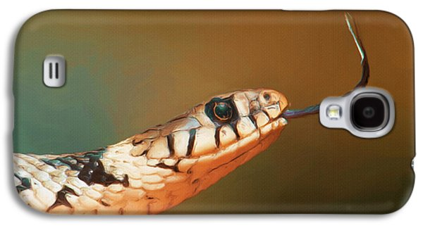 Reptiles Digital Galaxy S4 Cases - Get Over Here Galaxy S4 Case by Ayse Deniz