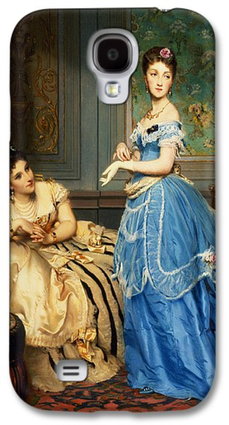 Gloves Galaxy S4 Cases - Getting Dressed, 1869 Galaxy S4 Case by Charles Edouard Boutibonne