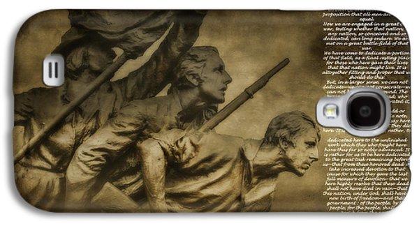 Gettysburg Address With North Carolina Monument Galaxy S4 Case by Randy Steele