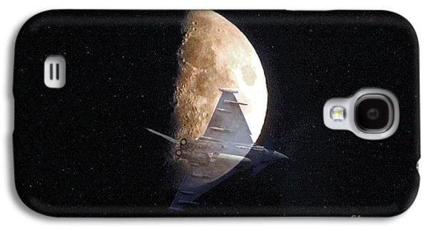 Jet Star Galaxy S4 Cases - Ghostly Eurofighter against a full moon Galaxy S4 Case by Peter McHallam