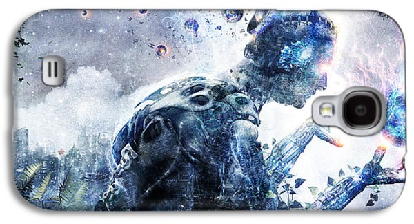 Photoshop Digital Art Galaxy S4 Cases - Ghosts Of The Concrete World Galaxy S4 Case by Cameron Gray