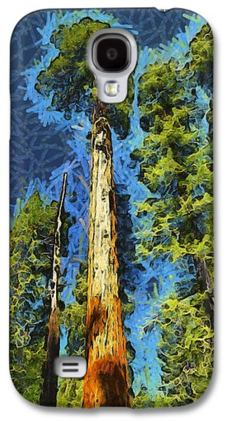 Tree Roots Galaxy S4 Cases - Giant Along The Trail Abstract Galaxy S4 Case by Barbara Snyder