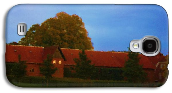 Asbjorn Lonvig Digital Galaxy S4 Cases - Giant Oak and Stable of the Manor House near Rohden River Valley_Painting Galaxy S4 Case by Asbjorn Lonvig