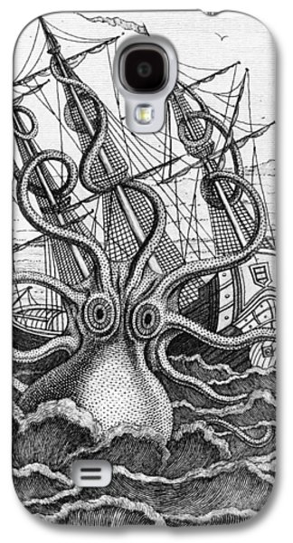 Mast Galaxy S4 Cases - Giant Octopus illustration from L Histoire Naturelle Generale et Particuliere des Mollusques Galaxy S4 Case by French School
