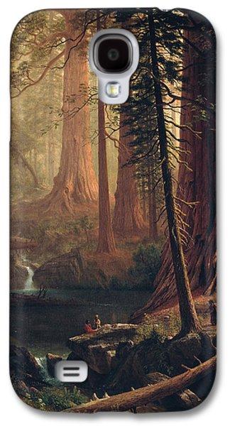 Giant Redwood Trees Of California Galaxy S4 Case by Albert Bierstadt