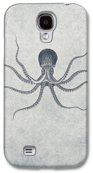 Aquatic Drawings Galaxy S4 Cases - Giant Squid - Nautical Design Galaxy S4 Case by World Art Prints And Designs