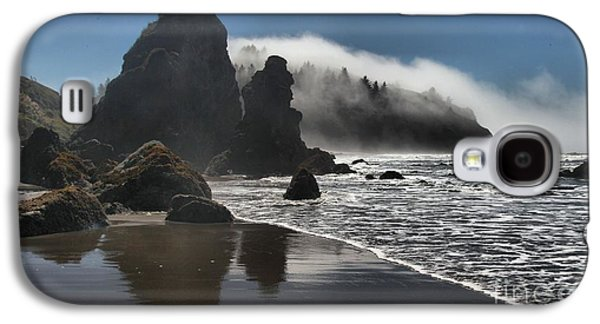 Foggy Beach Galaxy S4 Cases - Giants On The Beach Galaxy S4 Case by Adam Jewell