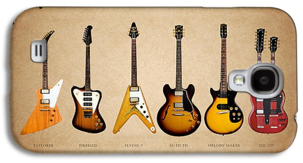 Music Photographs Galaxy S4 Cases - Gibson Electric Guitar Collection Galaxy S4 Case by Mark Rogan