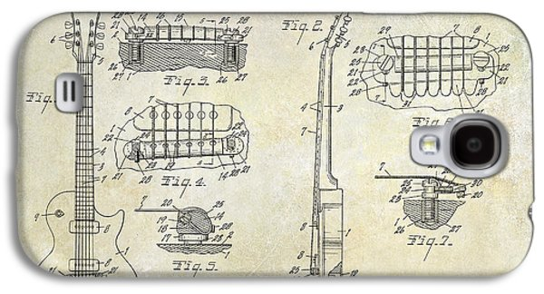 Recently Sold -  - Drawing Galaxy S4 Cases - Gibson Les Paul Patent Drawing Galaxy S4 Case by Jon Neidert