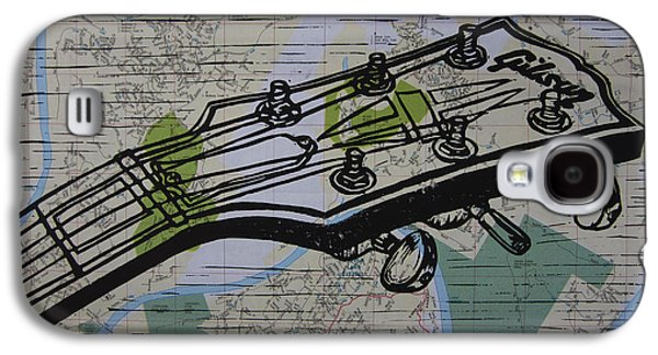 Block Print Drawings Galaxy S4 Cases - Gibson on Map Galaxy S4 Case by William Cauthern