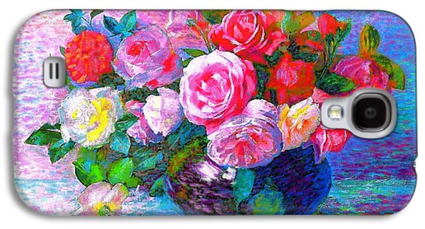 Day Paintings Galaxy S4 Cases - Gift of Roses Galaxy S4 Case by Jane Small
