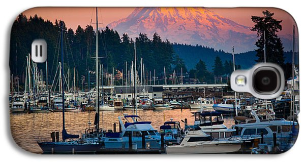 Glow Photographs Galaxy S4 Cases - Gig Harbor Dusk Galaxy S4 Case by Inge Johnsson