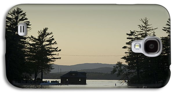 Contemplative Photographs Galaxy S4 Cases - Gilford Harbor Boathouse Galaxy S4 Case by David Gordon