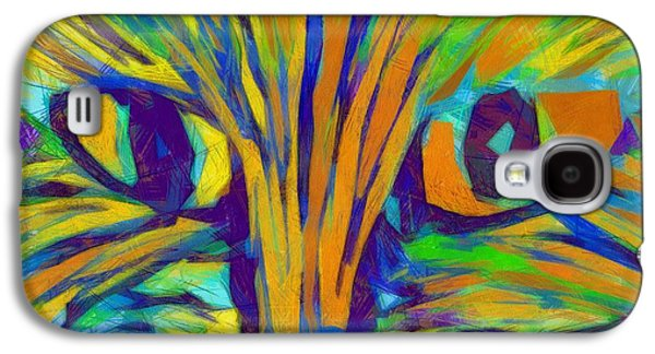 House Pet Digital Art Galaxy S4 Cases - Ginger Kitty Galaxy S4 Case by Michelle Calkins