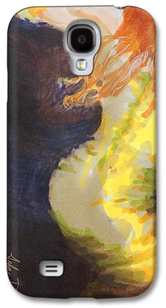 Opera Gloves Galaxy S4 Cases - Ginger Serpentine Galaxy S4 Case by Del Gaizo