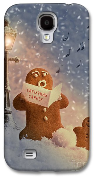 Snowy Evening Galaxy S4 Cases - Gingerbread Carol Singers Galaxy S4 Case by Amanda And Christopher Elwell