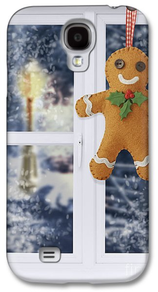 Interior Scene Photographs Galaxy S4 Cases - Gingerbread Man Decoration Galaxy S4 Case by Amanda And Christopher Elwell