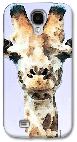 Giraffe Digital Galaxy S4 Cases - Giraffe Art - Sky High Galaxy S4 Case by Sharon Cummings