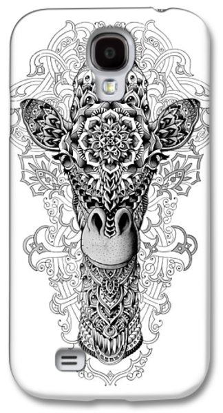 Native Drawings Galaxy S4 Cases - Giraffe Galaxy S4 Case by BioWorkZ