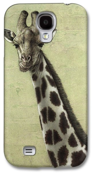 Nature Drawings Galaxy S4 Cases - Giraffe Galaxy S4 Case by James W Johnson