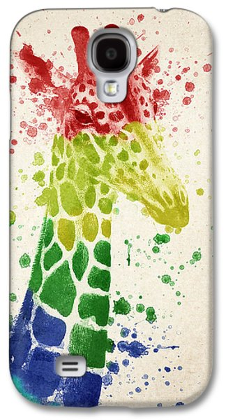 Giraffe Splash Galaxy S4 Case by Aged Pixel