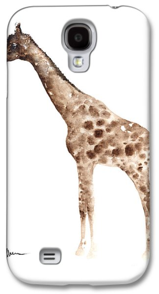 Giraffe Watercolor Art Print Painting African Animals Poster Galaxy S4 Case by Joanna Szmerdt