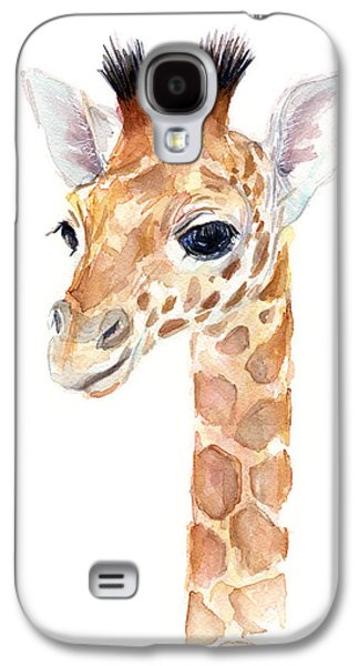 Giraffe Watercolor Galaxy S4 Case by Olga Shvartsur