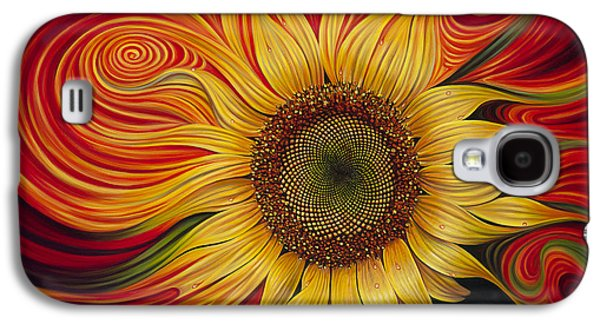 Sun Galaxy S4 Cases - Girasol Dinamico Galaxy S4 Case by Ricardo Chavez-Mendez