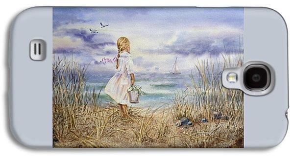 Girl At The Ocean Galaxy S4 Case by Irina Sztukowski