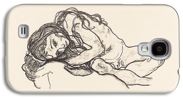 Sex Drawings Galaxy S4 Cases - Girl Galaxy S4 Case by Egon Schiele