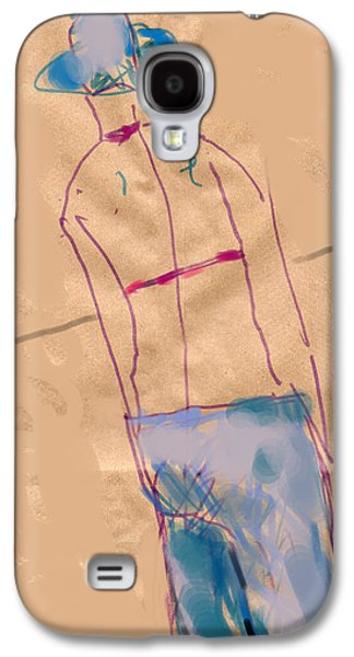 Contemplative Drawings Galaxy S4 Cases - Girl from the back Galaxy S4 Case by Margie Lee