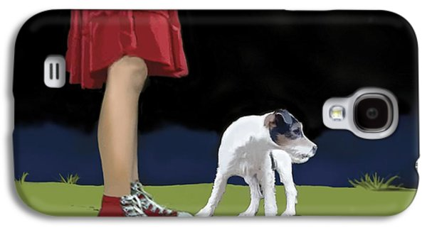 Breed Of Dog Galaxy S4 Cases - Girl In Red Skirt Galaxy S4 Case by Marjorie Weiss