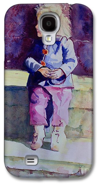 Janet Felts Galaxy S4 Cases - Girl in the Blue Jacket Galaxy S4 Case by Janet Felts
