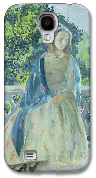 Contemplative Photographs Galaxy S4 Cases - Girl On Balcony, 1900 Oil On Canvas Galaxy S4 Case by Viktor Elpidiforovich Borisov-Musatov