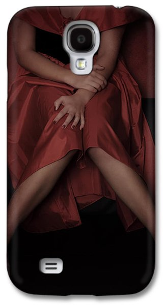 Girl Galaxy S4 Cases - Girl On Black Sofa Galaxy S4 Case by Joana Kruse