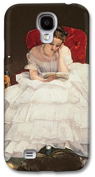 Pastimes Galaxy S4 Cases - Girl Reading Galaxy S4 Case by Alfred Emile Stevens