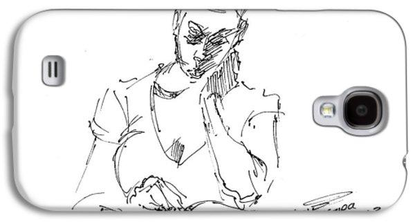 Girl Galaxy S4 Cases - Girl Reading Galaxy S4 Case by Ylli Haruni