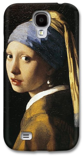 Girl Galaxy S4 Cases - Girl With A Pearl Earring, C.1665 Oil On Canvas Galaxy S4 Case by Jan Vermeer