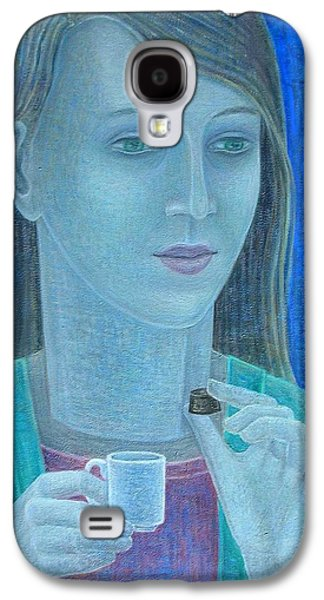Inward Galaxy S4 Cases - Girl With Chocolate, 2011, Oil On Canvas Galaxy S4 Case by Ruth Addinall