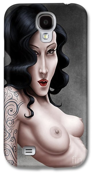 Tattoo Digital Art Galaxy S4 Cases - Girl with the Tribal Tattoo Galaxy S4 Case by Andre Koekemoer