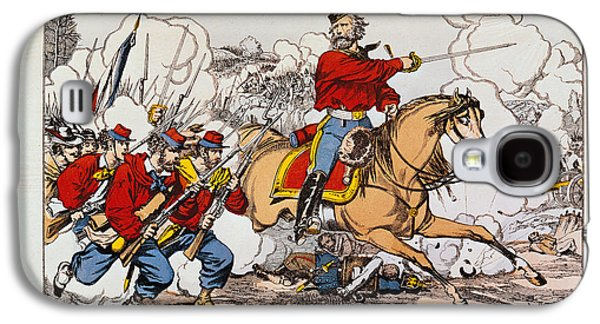 Bayonet Galaxy S4 Cases - Giuseppe Garibaldi 1807-82 And His Volunteers Fighting The Prussians Coloured Engraving Galaxy S4 Case by French School