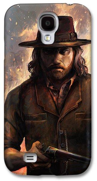 Western Digital Art Galaxy S4 Cases - Give em Hell Galaxy S4 Case by Steve Goad