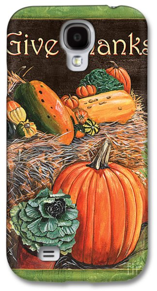 Holiday Paintings Galaxy S4 Cases - Give Thanks Galaxy S4 Case by Debbie DeWitt