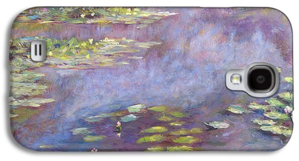 Gardenscapes Galaxy S4 Cases - Giverny Nympheas Galaxy S4 Case by David Lloyd Glover
