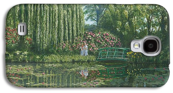 Landscape Acrylic Prints Galaxy S4 Cases - Giverny Reflections Galaxy S4 Case by Richard Harpum